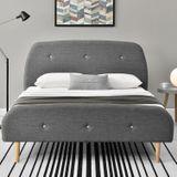 """Čalúnená posteľ ,,Vigo"""" 140 x 200 cm - tmavošedá"""