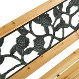 2-miestna záhradná lavica Venezia z dreva a kových častí