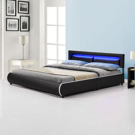"""Čalúnená posteľ ,, Murcia"""" 180 x 200 cm - čierna"""